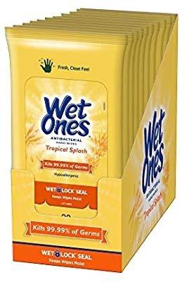 Wet Ones 抗菌擦手湿巾 20张x10包