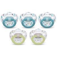 NUK 0-6个月婴儿硅胶安抚奶嘴 5个
