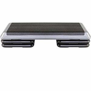 Amazon.com : The Step Original Circuit Size Aerobic Platform with Black Nonslip Platform and Two Original Grey Risers : Sports & Outdoors