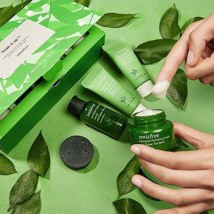 8折Innisfree 精选护肤品促销 收绿茶、兰花系列护肤