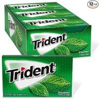 Trident 薄荷无糖口香糖 12包 168片装