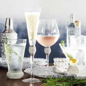 Jewel Silver Champagne Flute   Pier 1 Imports