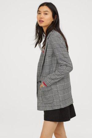 Pattern-weave Jacket - Black/white patterned - Ladies | H&M US