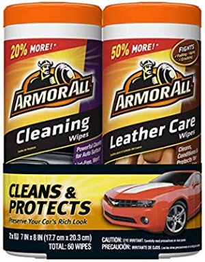 Amazon.com: Armor All 18781 Cleaning and Leather Care Wipes, 30 count each - 2 Pack Wipes: Automotive