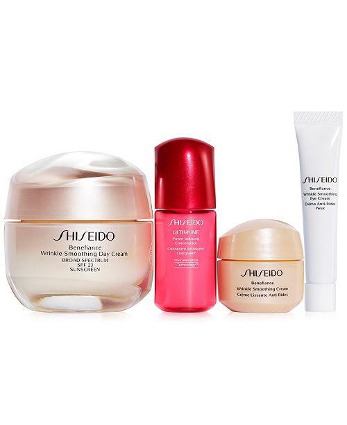 Shiseido 4-Pc. Benefiance Smooth Skin Sensations Gift Set & Reviews - Beauty Gift Sets - Beauty - Macy's 护肤品套装