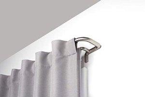 Amazon.com: Umbra 48-88 Inch Twilight Double Rod Set – Wrap Around Design is Ideal for Blackout Room Darkening Curtains, 48 to 88 Inch, Matte Nickel, 88-Inch: Home & Kitchen