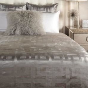 Ming Velvet Bedding - Steel | Emory Acrylic Bedroom Inspiration | Bedroom | Inspiration | Z Gallerie
