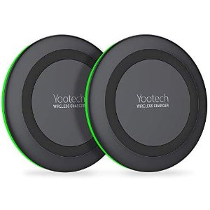 Yootech [2 Pack] Wireless Charger Qi-Certified 10W Max Wireless Charging Compatible
