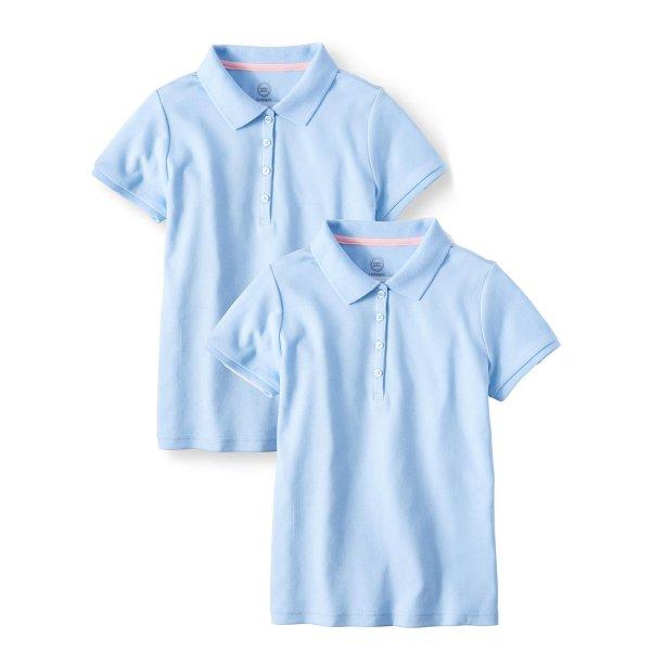 女童短袖polo衫 2件装