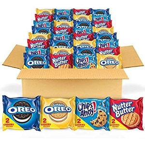 $11.88OREO Original, Golden, CHIPS AHOY and Nutter Butter Cookie Snacks Variety Pack, 56 Packs