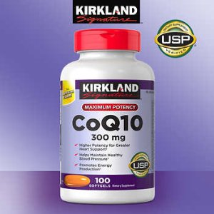 Kirkland Signature CoQ10 300 mg., 100 Softgels
