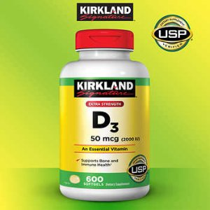 Kirkland Signature Extra Strength D3 50 mcg., 600 Softgels