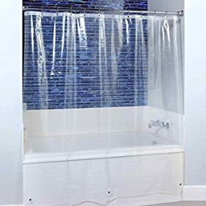 $4.99Blu-Pier Tech 8 Guage Heavy Duty Clear Shower Curtain Liner 72 by 72 Inches