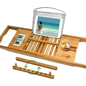 Amazon.com: Royal Craft Wood Luxury Bathtub Caddy Tray, One or Two Person Bath and Bed Tray, Bonus Free Soap Holder (Natural Bamboo Color): Home & Kitchen