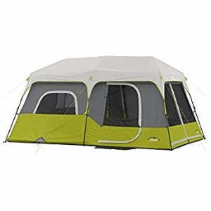 Amazon.com : Coleman 10-Person Dark Room Instant Cabin Tent with Rainfly, Green/Black/Teal : Sports & Outdoors