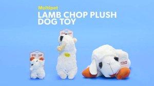 Multipet Lamb Chop Plush Dog Toy, Regular - Chewy.com