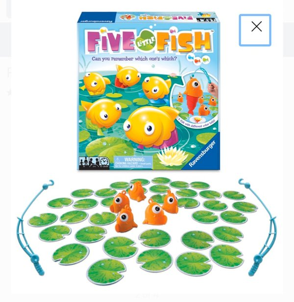 五条小鱼 钓鱼记忆小桌游,3岁就可玩