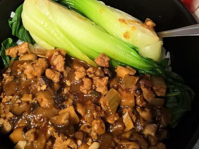 香菇肉酱拌饭