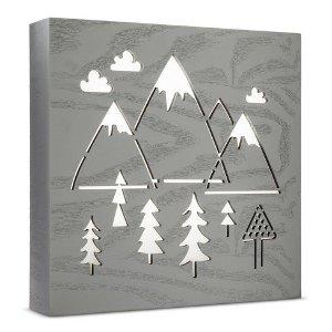 LED Light Box Mountains - Cloud Island™ - Light Gray : Target