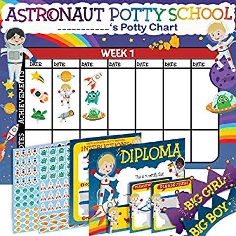 $3.97Potty Training Chart for Toddlers Kids Space Design Sticker Chart 4Week Reward Chart