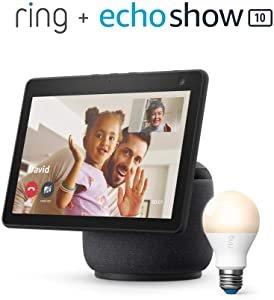 全新第三代 Echo Show 10 + Ring A19 智能灯泡 套装