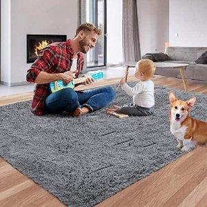 Qumig 柔软长绒地毯 4x5.3
