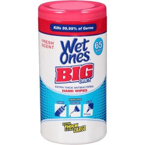 $4.79Wet Ones Antibacterial Hand Wipes - 65ct