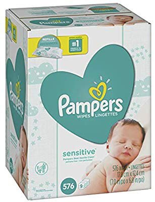 Pampers Sensitive 宝宝湿巾576片,无香型,敏感宝宝适用