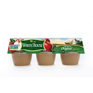 (3 Pack) White House Apple Sauce Original Cups - 6 Pk, 4.0 OZ - Walmart.com