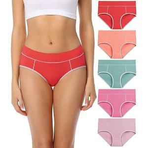 wirarpa 女士内裤(5条装)热卖 95%棉