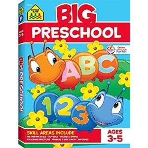 School Zone幼儿园小朋友练习册, 3-5岁