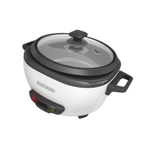 BLACK+DECKER 6-Cup Rice Cooker with Steaming Basket