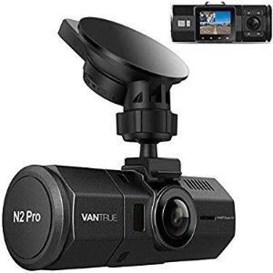 Vantrue N2 Pro Dash Cam, Infrared Night Vision, Dual 1920x1080P Front and Inside Dash Camera