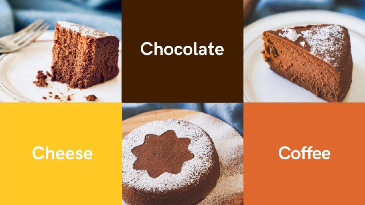 巧克力• 咖啡• 芝士   香浓摩卡轻乳酪