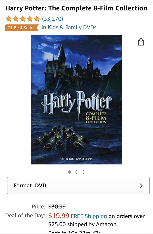 Amazon.com: Harry Potter: The Complete 8-Film Collection: Daniel Radcliffe, Rupert Grint, Emma Watson, Robbie Coltrane, Maggie Smith, Chris Columbus, Alfon 影碟优惠