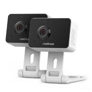 $29.99 送6个月云存储meShare 1080p 迷你无线摄像头 2个装 支持双路语音