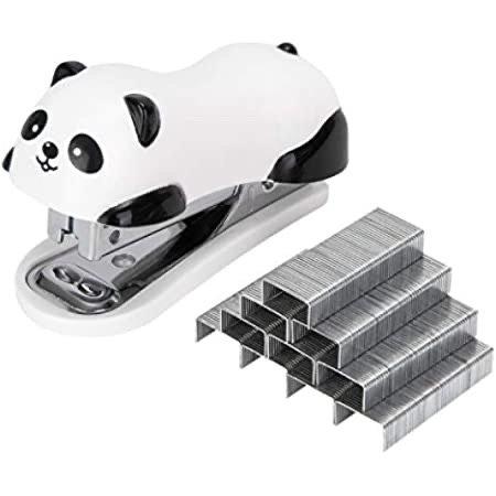 Artyea 可爱熊猫迷你订书机  带1000钉