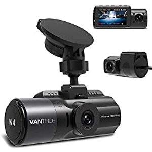 $209.99 支持延时摄影Vantrue N4 三通道高清行车记录仪 1440P+1080P+1080P