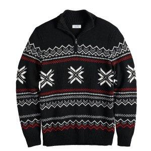 Men's Croft & Barrow® Regular-Fit Quarter-Zip Pullover Sweater
