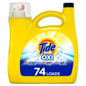 $8.94Tide 汰渍 Simply + Oxi Refreshing 洗衣液 115盎司