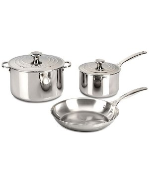 Le Creuset 5-Pc. Stainless Steel Cookware Set & Reviews - Cookware & Cookware Sets - Kitchen - Macy's