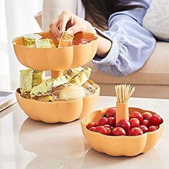 南瓜造型双层零食果盘盒