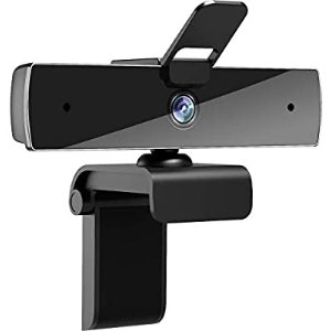 QTNIUE FHD 1080p Webcam with Microphone and Privacy Cover