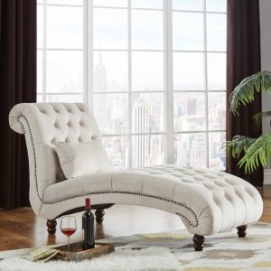 Three Posts Sagebrush Tufted Chaise Lounge & Reviews | Wayfair