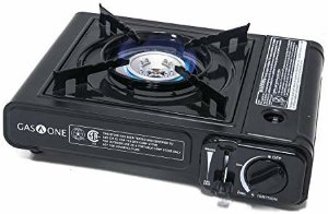 Amazon.com : Gas ONE GS-1000 7, 650 BTU Portable Butane Gas Stove Automatic Ignition with Carrying Case, CSA Listed (Stove) : Sports & Outdoors