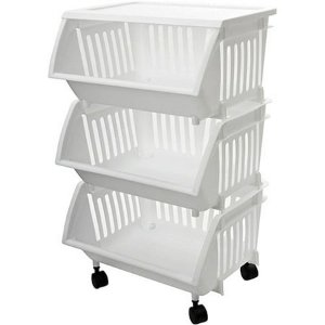 $23.89Homz Three-Tier Mobile Cart, White, Set of 2