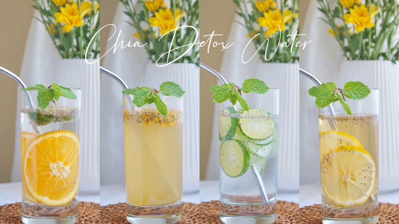 超模同款🌟这4款奇亚籽detox water让你爱上喝水~💖💖💖