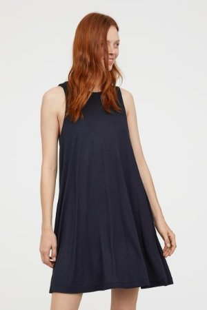 A-line Dress - Dark blue - Ladies | H&M US