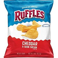Ruffles 土豆薯片 Cheddar Sour Cream, 1oz  40袋