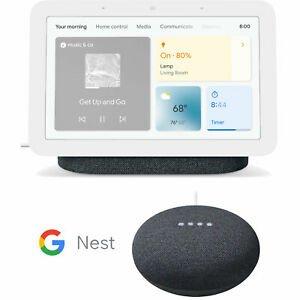 Google Nest Hub 智能屏幕2代 + Google Nest Mini 2代